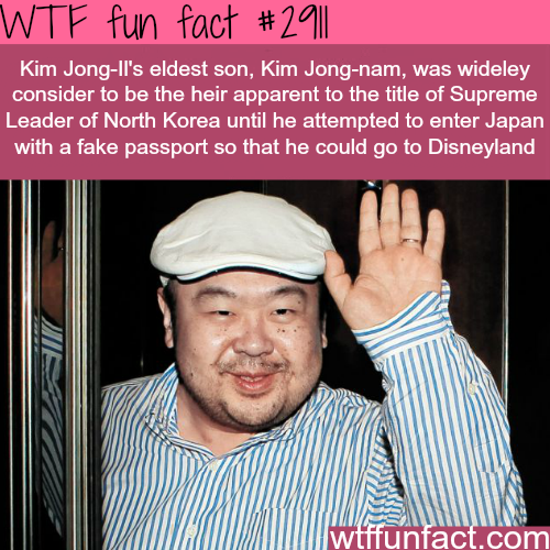 The eldest son of Kim Jong Il -WTF fun facts