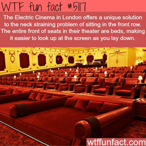 The Electric Cinema in London - WTF fun facts