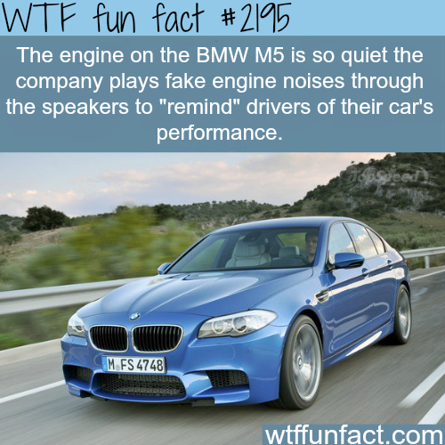 The engine on the BMW M5 - WTF fun facts