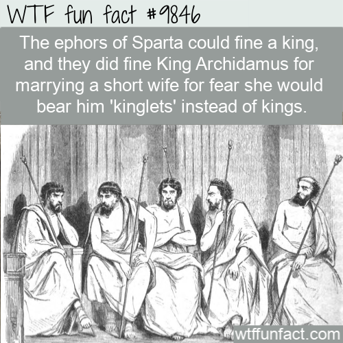 The ephors of Sparta could fine a king