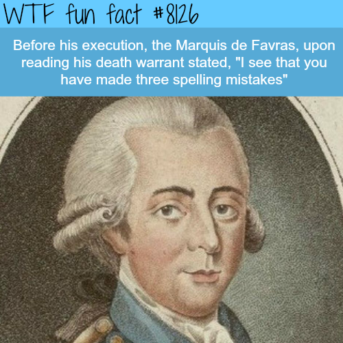 The execution of Marquis de Favras - WTF fun facts