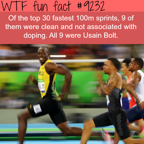 The Fastest Man Alive - WTF fun fact