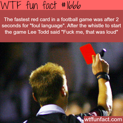 The fastest red card in a football/soccer game - WTF fun facts