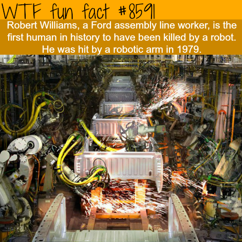 The first man to be killed by a robot - WTF fun facts