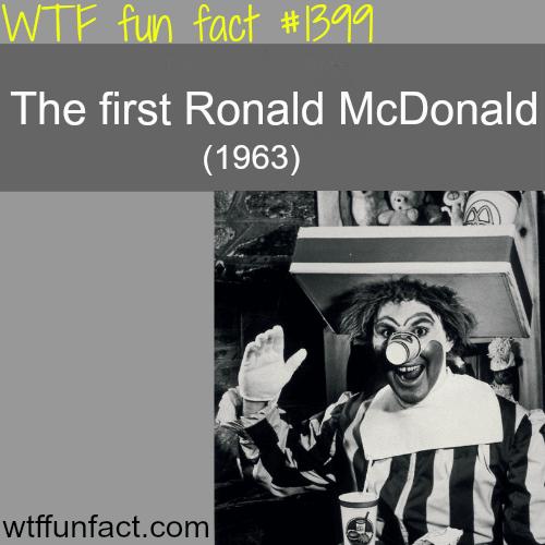the first Ronald McDonald - 1963