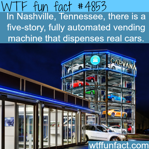 The first vending machine for real cars - WTF fun facts