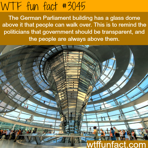 The German Parliament building -WTF fun facts