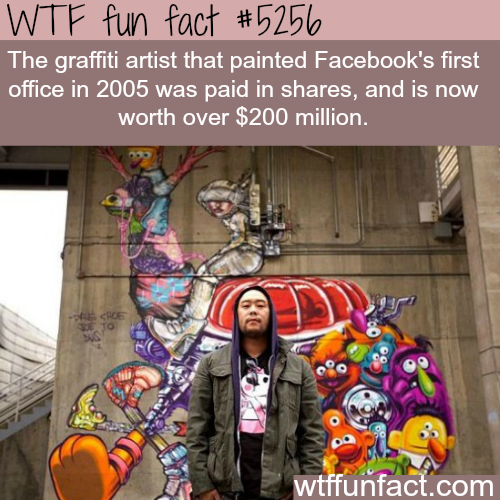 The graffiti artist who was hired by Facebook is worth $200 million - WTF fun facts