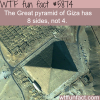 the great pyramid of giza wtf fun facts
