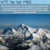 the height of mount everests peak wtf fun fact