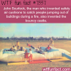 the inventor bouncy castle wtf fun fact