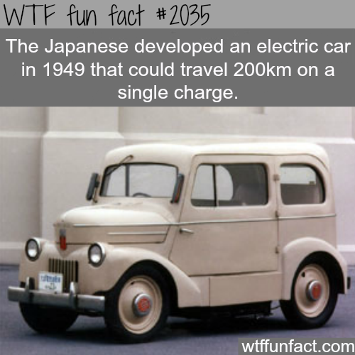 The Japanese electric car - History WTF fun facts