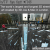 the largest and longest 3d street art