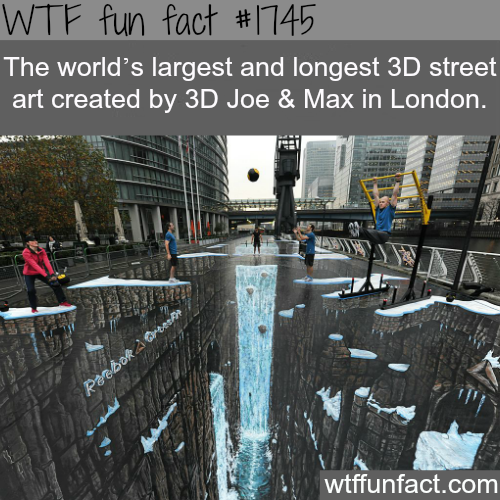 The largest and longest 3D street art -WTF fun facts