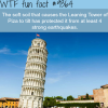 the leaning tower of piza wtf fun facts