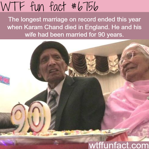 The longest marriage on record ended this year- WTF fun fact