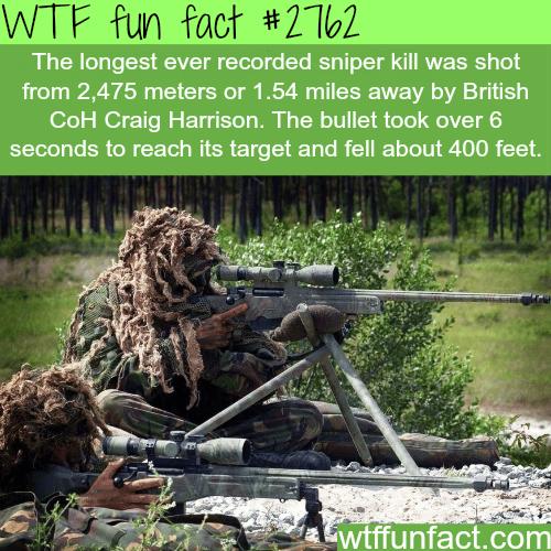 The longest recorded sniper kill -WTF fun facts