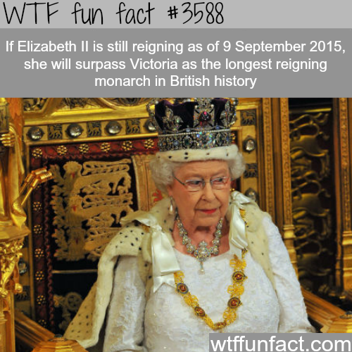 The longest reigning British Monarch -  WTF fun facts
