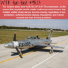 the loudest plane ever built wtf fun fact