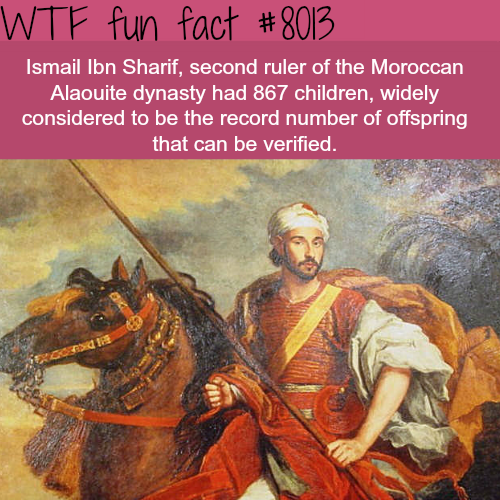 The man with the highest number of verified offspring - WTF fun fact