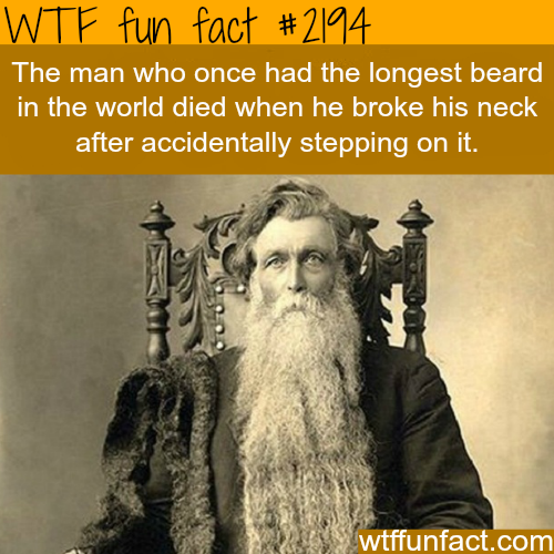 The man with the longest beared in the world -WTF fun facts