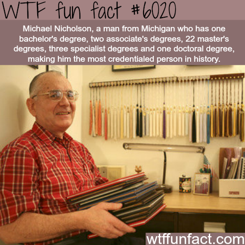 The man with the most degrees in the world - WTF fun facts