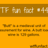 the medieval unit of measurement for wine butt