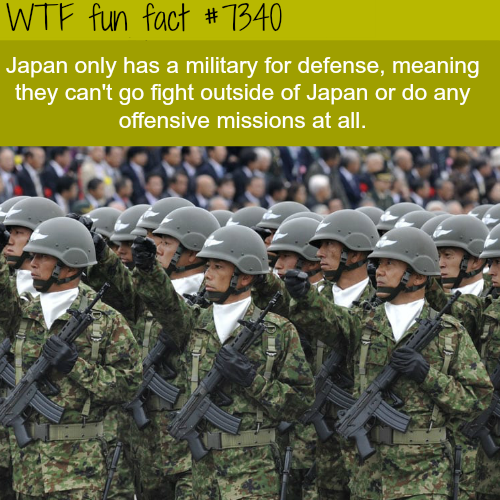 The Military of Japan - WTF fun fact