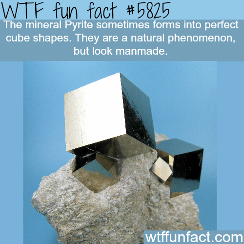 The mineral Pyrite forms perfect cubes - WTF fun facts
