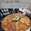 the most expensive pizza ever wtf fun fact