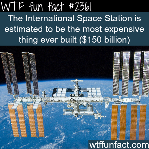 The most expensive thing ever built -WTF funfacts