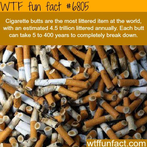 The most littered item in the world - WTF fun fact