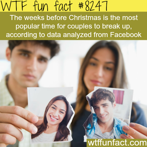 The most popular time for breakups - WTF fun facts