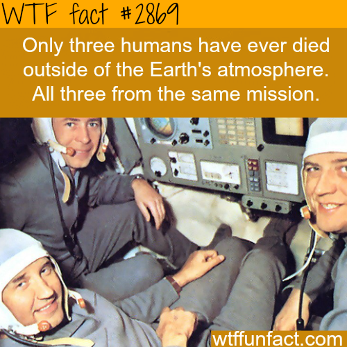 The only people that died outside of earth -WTF fun facts