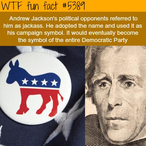 The origin of the Democratic party symbol - WTF fun facts