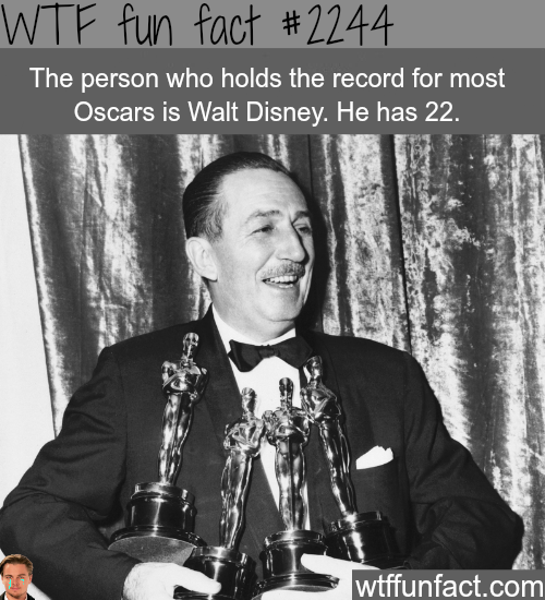 The person with the most oscars -WTF fun facts