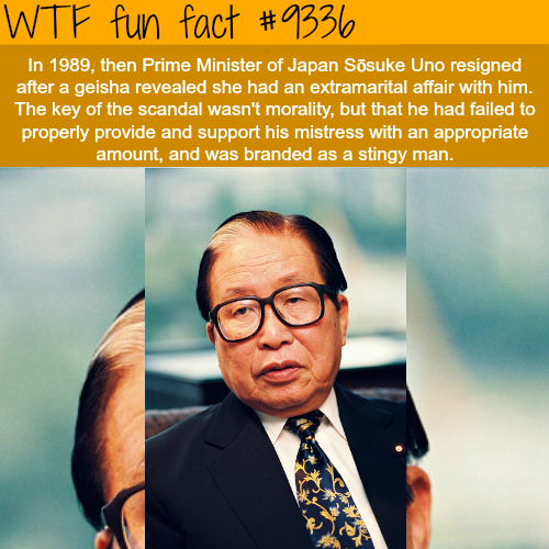 The Prime Minister of Japan resigned because - WTF fun facts
