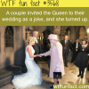 the queen crashed a wedding