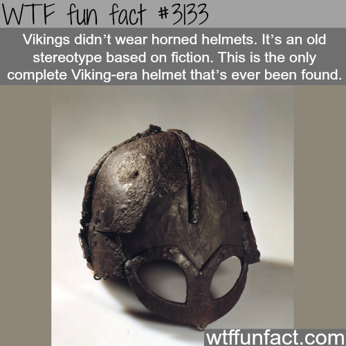 The real viking helmet -WTF fun facts