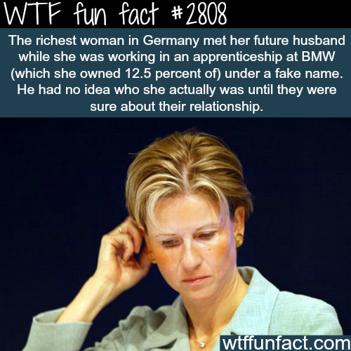 The richest woman in Germany - WTF fun facts