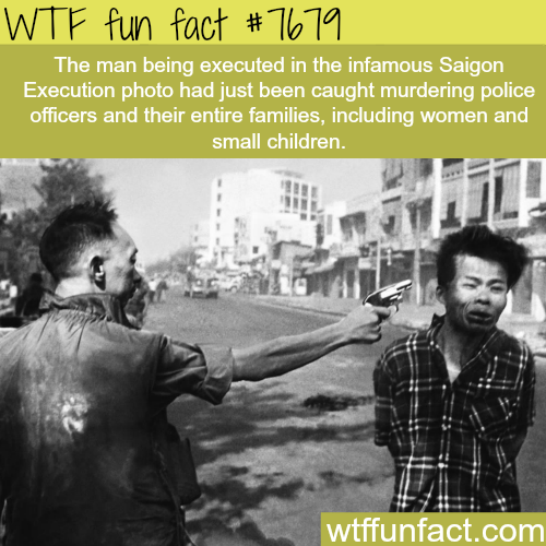 The Saigon Execution photograph - WTF fun facts