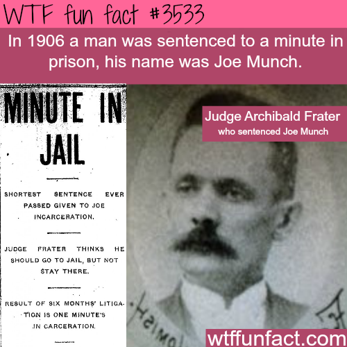 The shortest prison sentence - WTF fun facts