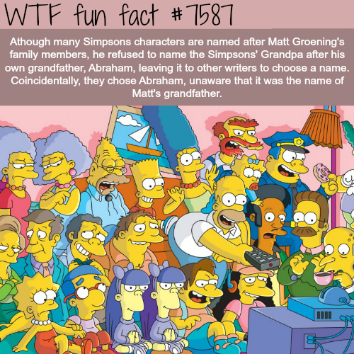 The Simpsons characters - WTF fun facts