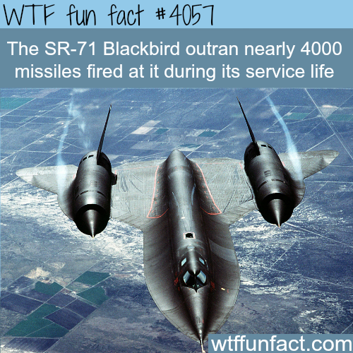 The SR-71 Blackbird - WTF fun facts