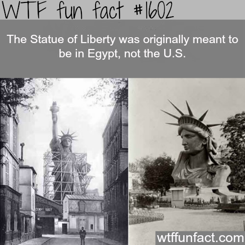 The statue of liberty real story -WTF fun facts