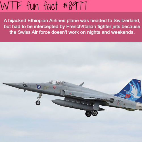 The Swiss Air Force doesn't work on the weekends - WTF fun fact