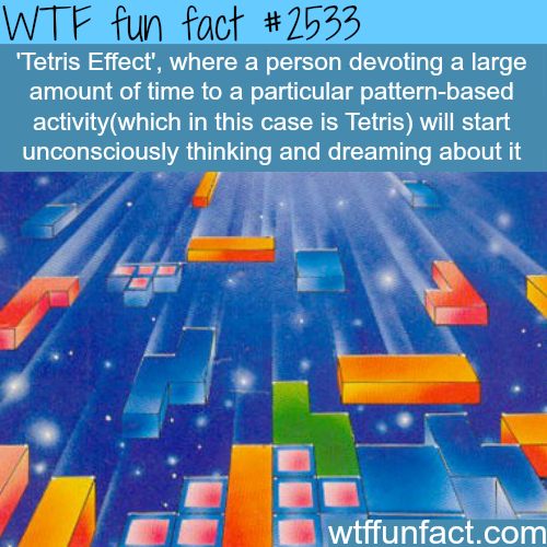 "The ""Tetris effect"" - WTF fun facts"