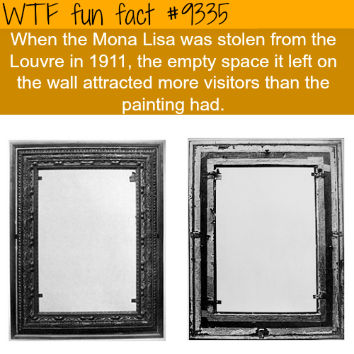 The Theft of Mona Lisa - WTF fun facts