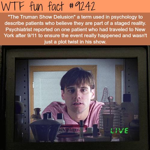 The Trueman Show Delusion- WTF fun fact
