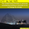 the united arab emirates wants to build a mountain